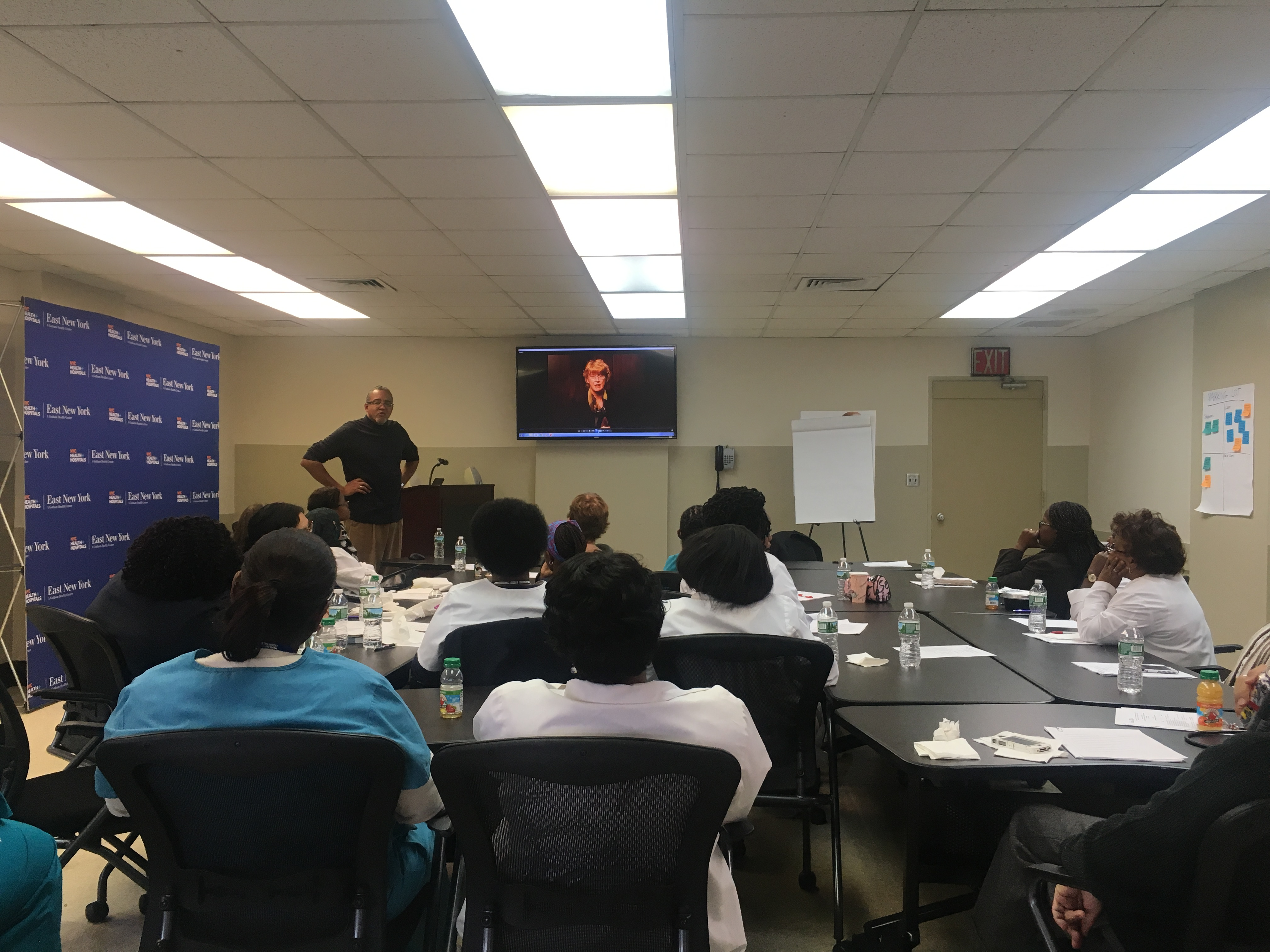 Dr. Randall Brown, Director and Co-author of PACE, leads a session at NYC Health + Hospitals/East New York