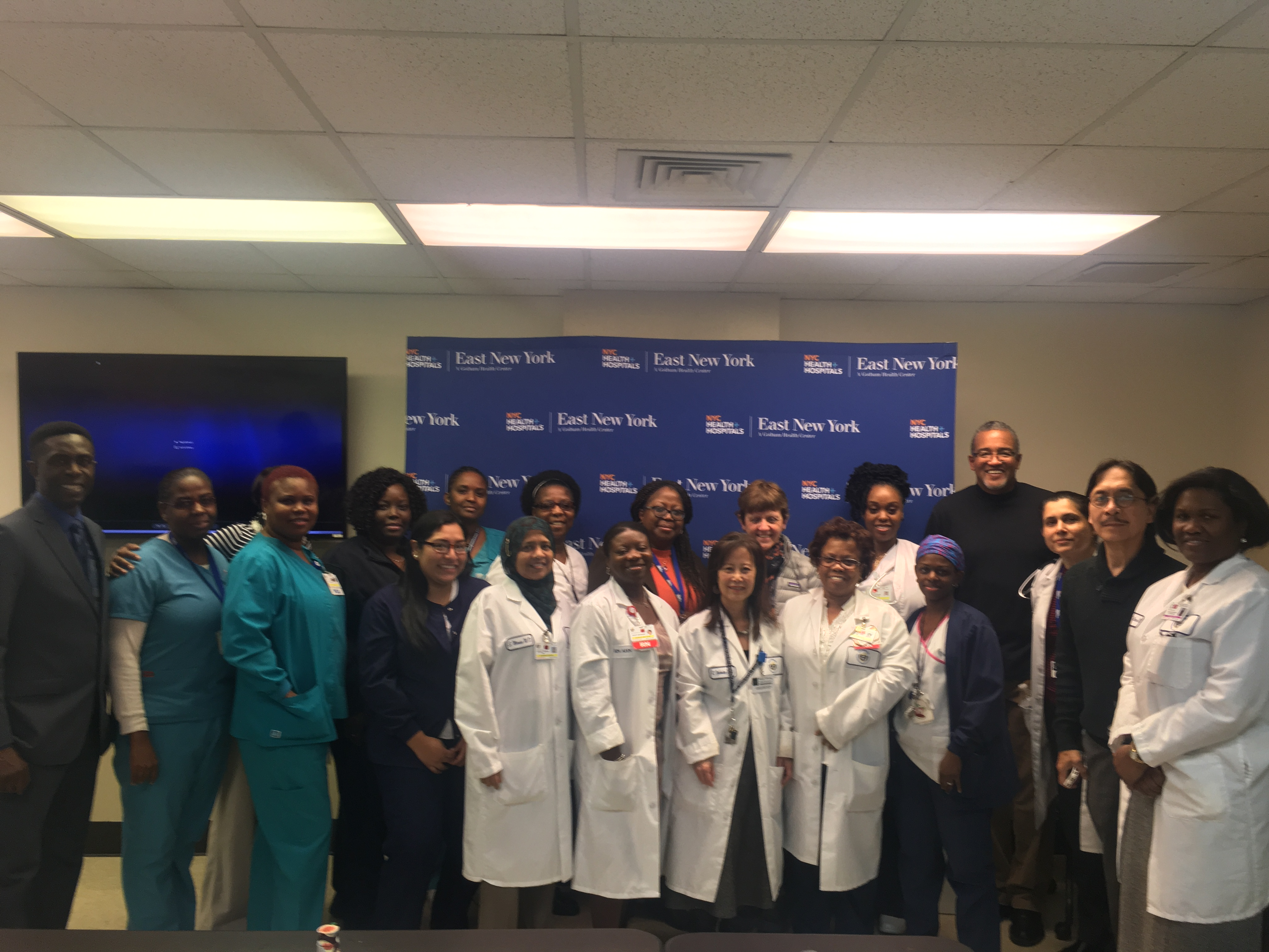 Pediatric Clinical providers at NYC Health + Hospitals/East New York complete PACE training. OneCity Health PPS Partner, 1199SEIU Training and Employment Funds, helped to facilitate the training